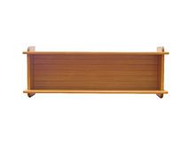 полка книги деревянная Стоковые Фото