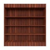 полка книги старая деревянная Стоковое Фото