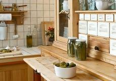 полка кухни Стоковая Фотография
