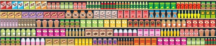 полки продуктов знамени безшовные Стоковое фото RF