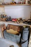 Полки сапожников, сохраненные в музее в Lania, Кипр стоковые изображения rf