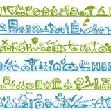 Полки с медицинскими иконами. безшовная картина для Стоковая Фотография RF