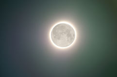 полная луна зарева Стоковые Фото