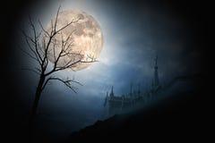 полная луна halloween Стоковое Фото