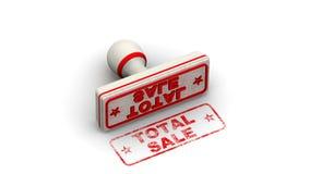 Полная продажа Штемпель выходит отпечаток иллюстрация штока
