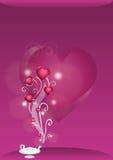 полное волшебство светильника сердец Стоковое фото RF