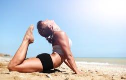 Полное представление йоги кобры Стоковое Изображение RF