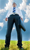 Полнометражный портрет бизнесмена Стоковые Фото