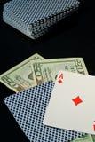 полностью держа пари blackjack Стоковое Изображение RF