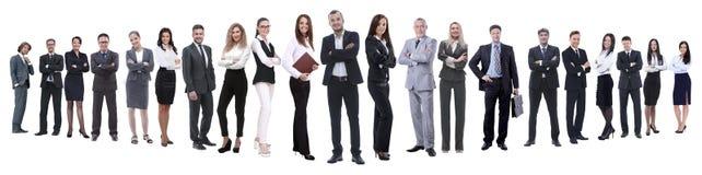 Полностью рост профессиональная команда дела изолированная на белизне стоковое изображение