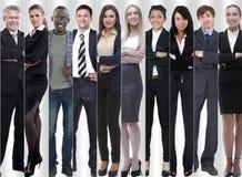 Полностью рост современные успешные бизнесмены стоковые фотографии rf
