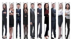 Полностью рост современные успешные бизнесмены стоковое фото rf