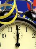 полночь часов Стоковое Изображение