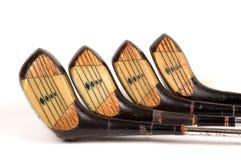 полный гольф прокатал установленные древесины стоковые изображения rf