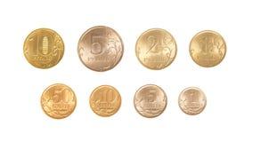 Полный комплект русских монеток Стоковое Изображение