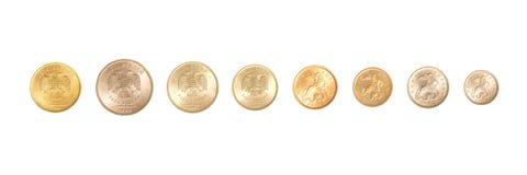 Полный комплект русских монеток Стоковое Изображение RF