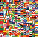 Полный набор флагов Стоковые Фото