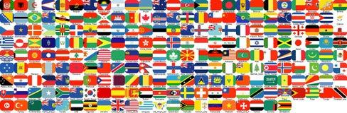 Полный набор флагов Стоковое фото RF