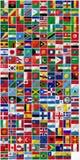 Полный набор флагов Стоковая Фотография RF