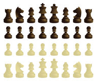 полный набор chessmen Стоковые Фотографии RF