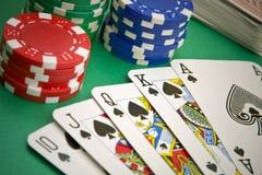 полный покер игры королевский стоковые изображения rf