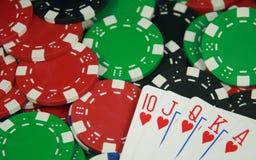 полный покер королевский Стоковое Фото