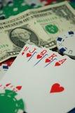 полный покер королевский Стоковые Изображения RF