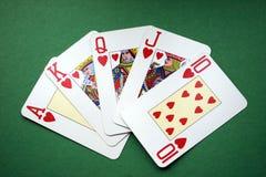 полный покер королевский Стоковое Изображение RF