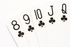 полный покер прямо Стоковое Изображение RF