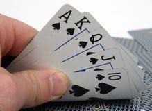 полный покер руки королевский Стоковые Фото
