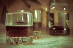 2 полных стога вискиа без льда Стоковое Изображение RF