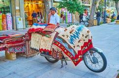 Половики в улице Zand, Ширазе, Иране Стоковые Изображения