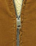 половина застежки -молнии пальто открытой Стоковая Фотография