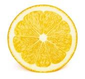 Половина куска плодоовощ лимона изолированного на белизне Стоковое Фото