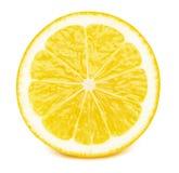 Половина куска плодоовощ лимона изолированного на белизне Стоковые Изображения RF