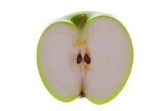 половина освещенная контржурным светом яблоком Стоковые Изображения
