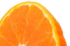 Половина свежего сочного оранжевого куска плодоовощ изолированного на белой предпосылке для текста Естественное concep противоста Стоковая Фотография RF