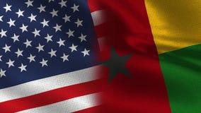 Половина США Гвинеи-Бисау реалистическая сигнализирует совместно иллюстрация вектора