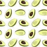 Половинная картина авокадоа Куски авокадоа вектора, органическая текстура Ingridients лета экзотические Семена очень вкусного пло Стоковые Фото