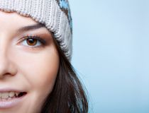 Половинная сторона женщины зимы Стоковое Изображение