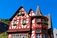 половинная timbered старая дома Стоковые Фото