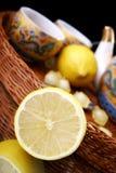 половинное отражение лимона Стоковые Изображения RF
