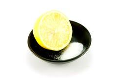 половинное соль лимона Стоковые Изображения