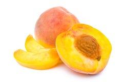 половинные ломтики персика Стоковые Изображения RF