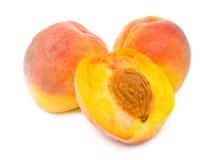 половинные персики персика Стоковое Изображение RF