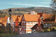 половинные timbered дома Стоковое Изображение