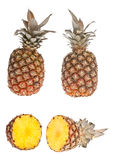 половинный ананас весь Стоковые Изображения