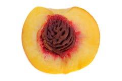 половинный персик Стоковое Изображение