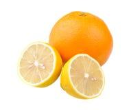 половинный помеец 2 лимонов Стоковое фото RF