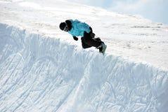 половинный snowboarder трубы Стоковые Изображения